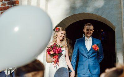 Reportaż ślubny Eweliny i Pawła w kościele w Jamnie