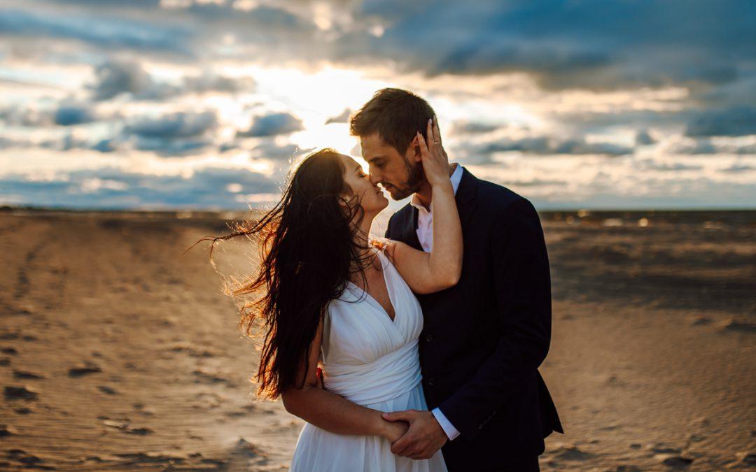 Sesja poślubna Ani i Dominika na plaży